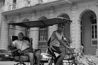 Bike taxi Cuba