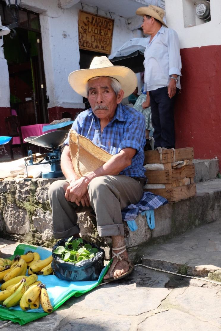 Cuetzalan Mexico sad vendor