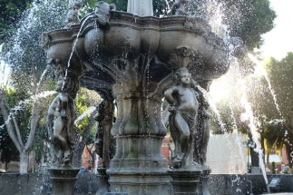 Zocalo fountain