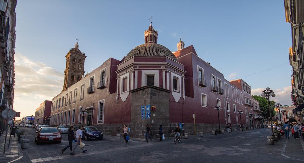 Puebla Mexico street scene