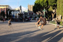 Futbol in the zocalo