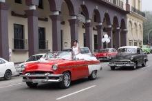 Classic car and bride Havana