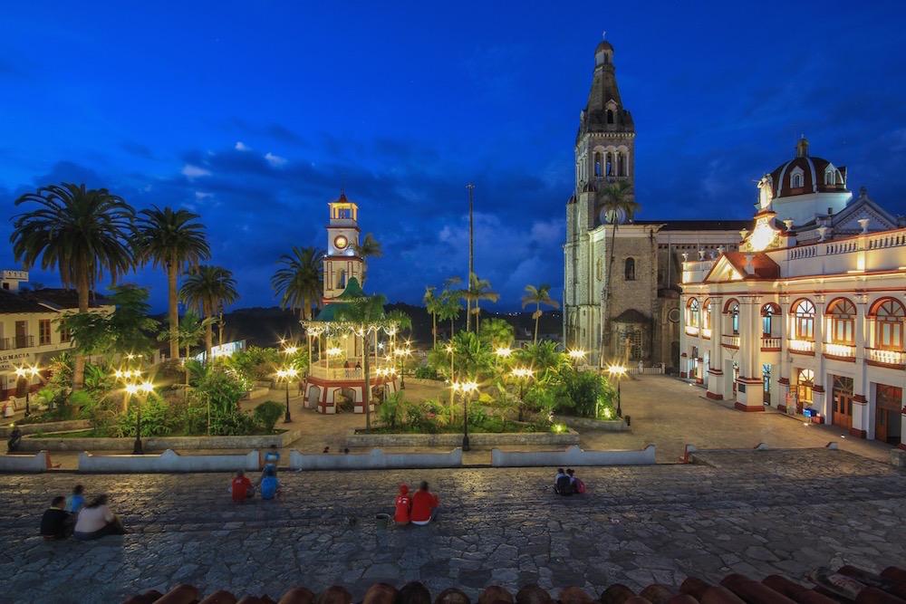 Cuetzalan Mexico at sunset