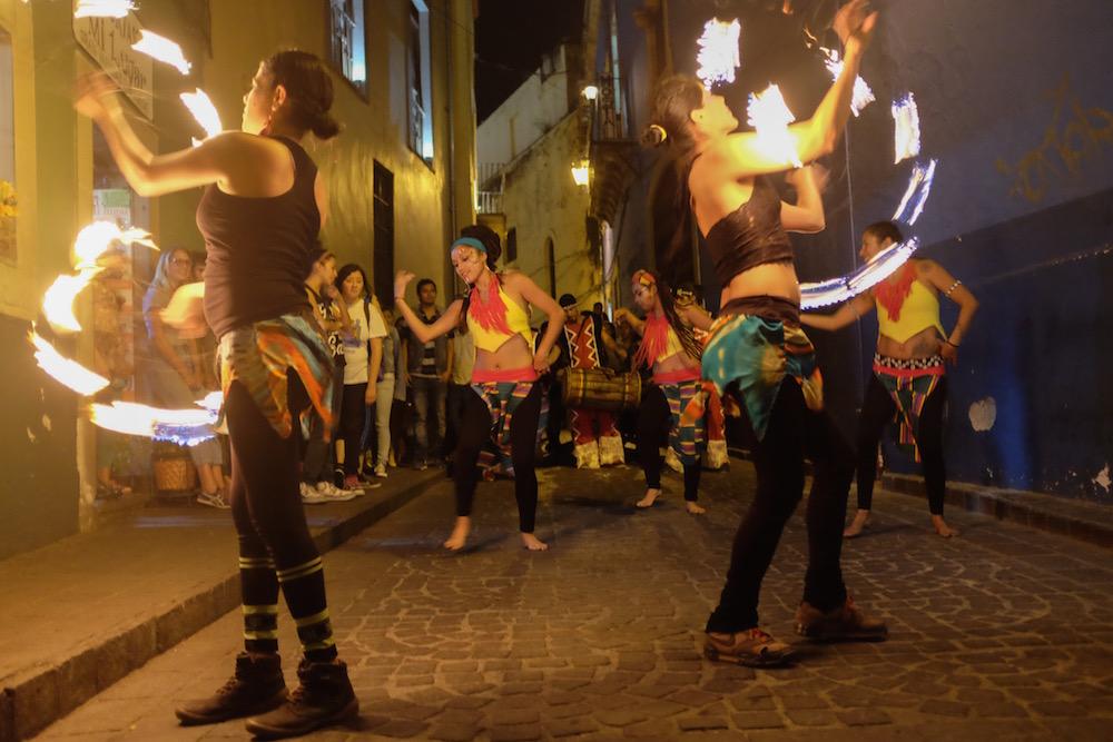 Fire Dancers in Guanajuato
