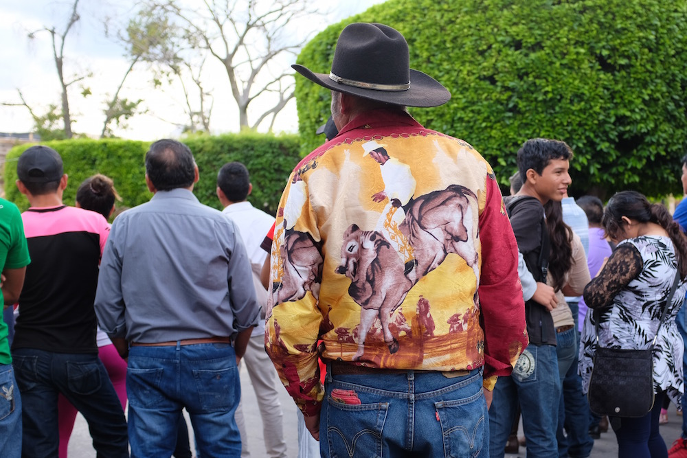Man with awesome shirt
