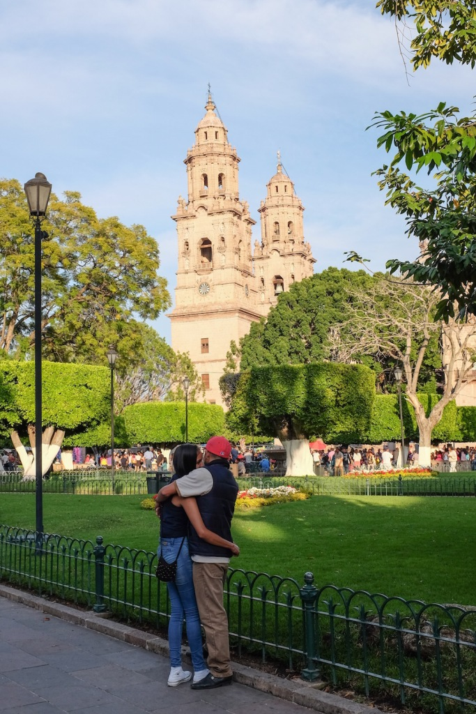Morelia lovers and cathedral
