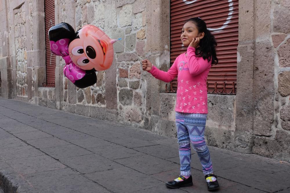 Morelia girl with balloon