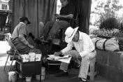 Morelia shoeshine man