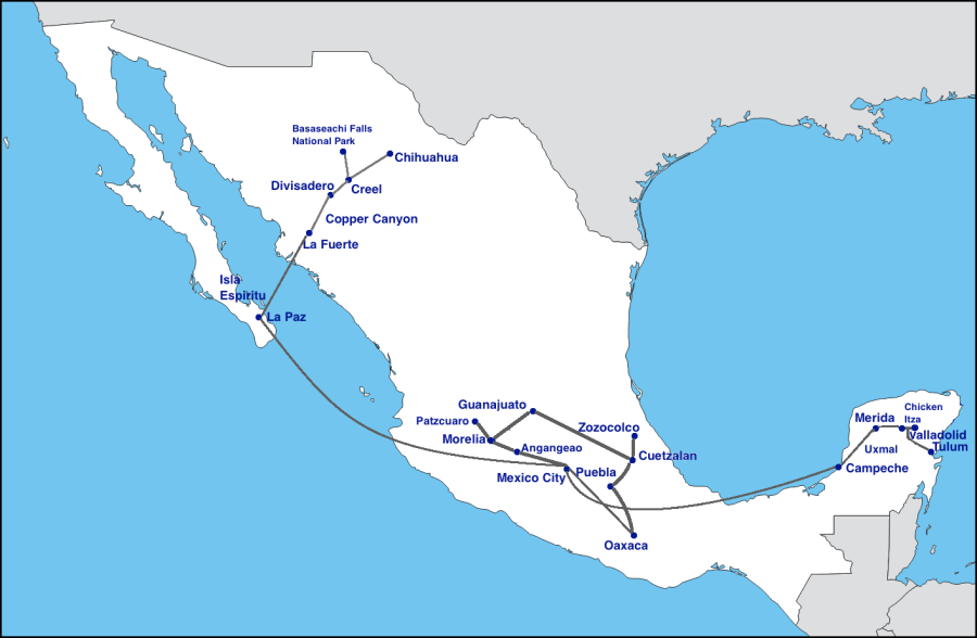 Mexico Travel Map 2015