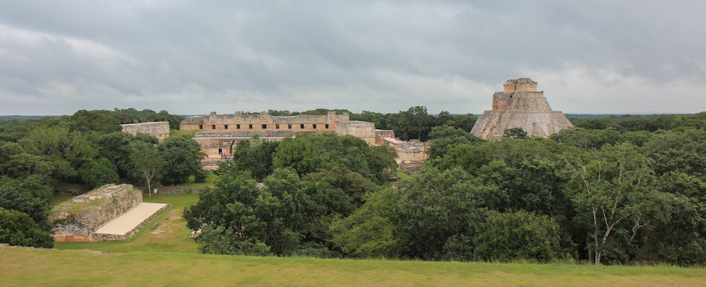 Uxmal from above