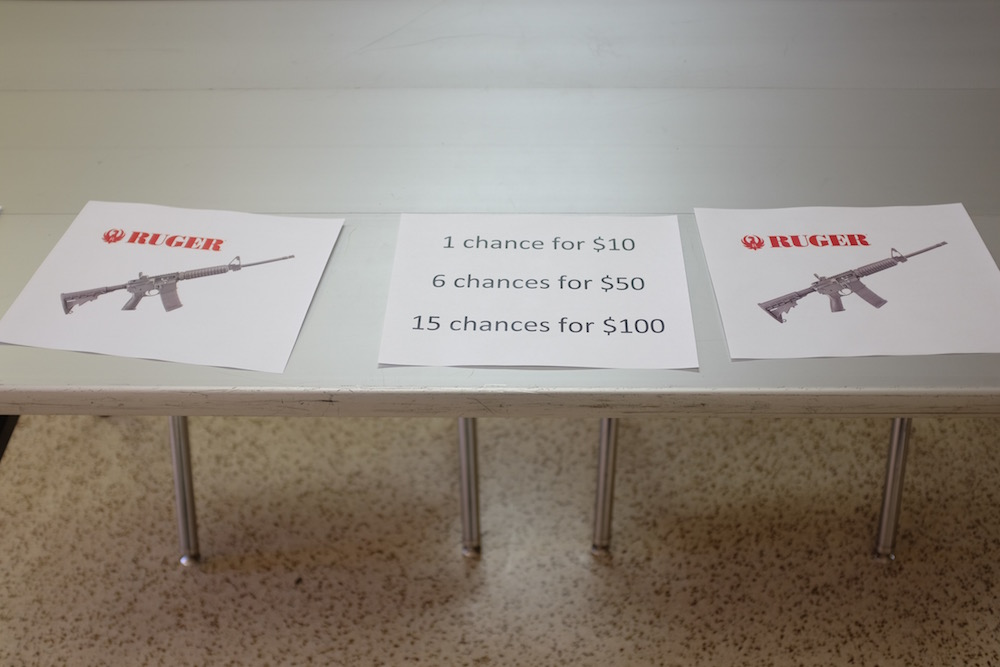 Woodward Oklahoma High School Gun Raffle