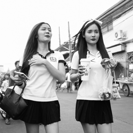 Pretty girls in Bangkok