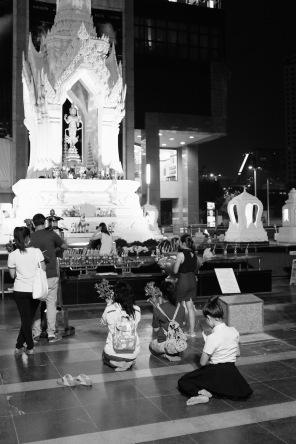 praying at shrine