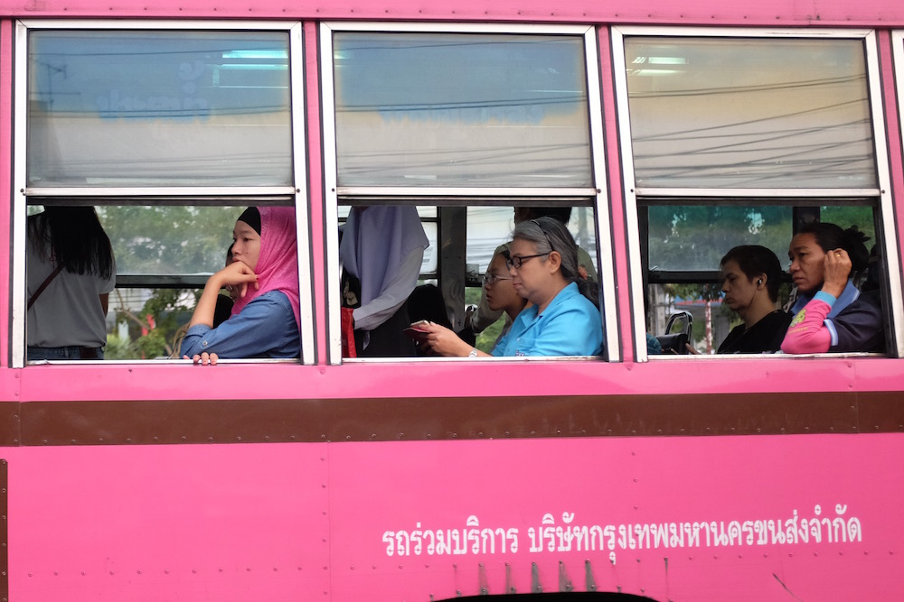 People in bus