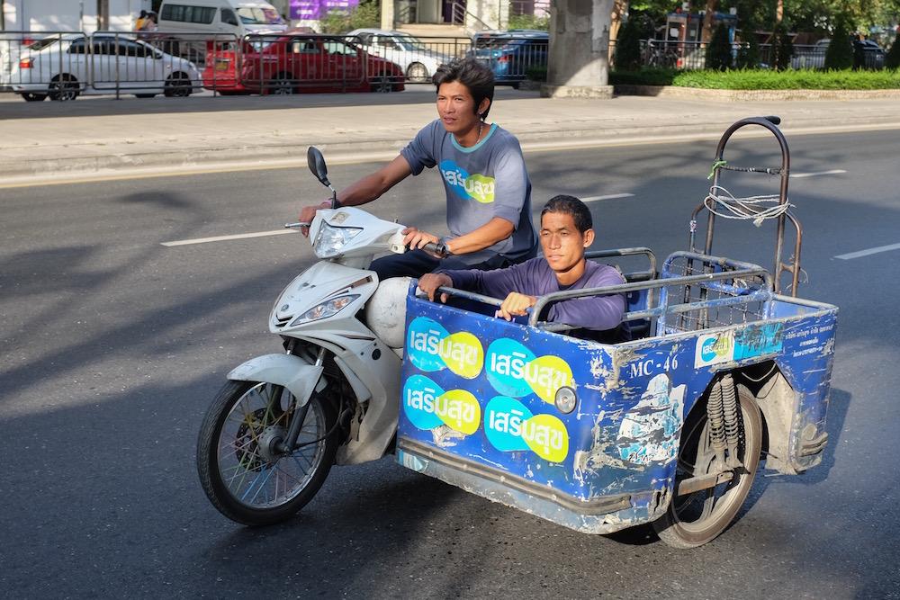 Guy in sidecar