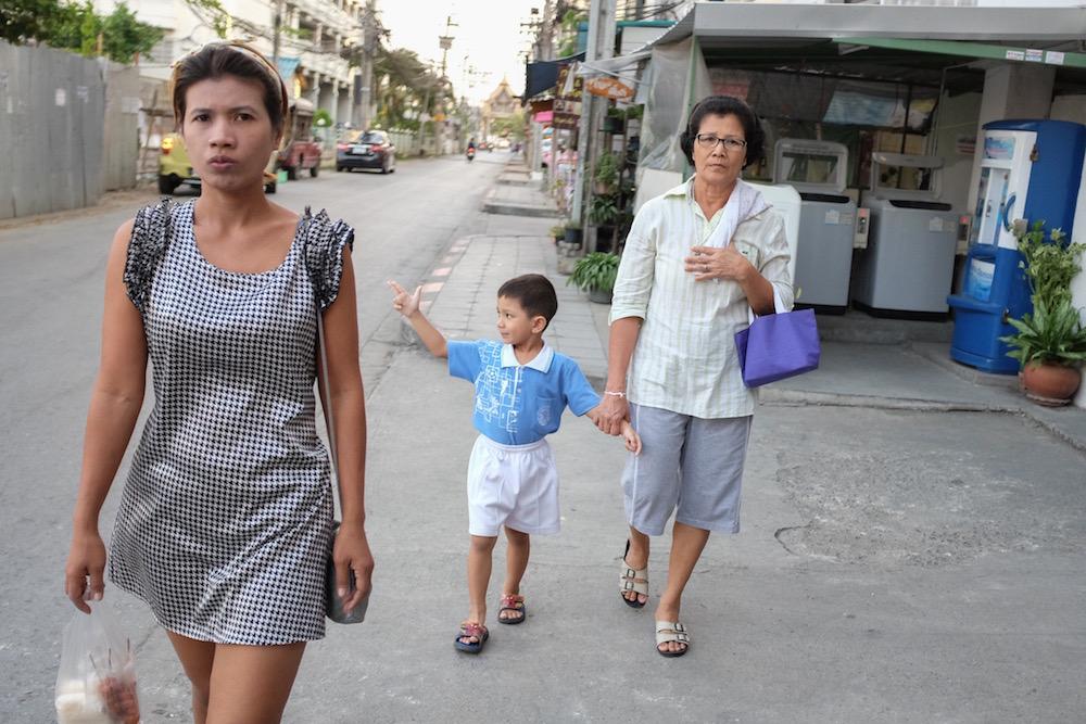 Boy and pretty girl in Bangkok