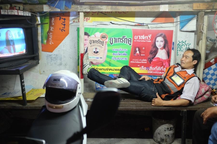 Moto taxi waiting