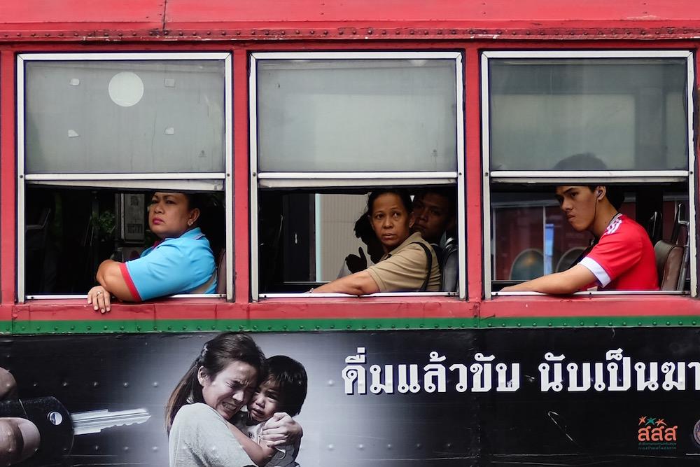 Bangkok bus funny