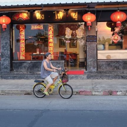 Lady on Bike Bangkok