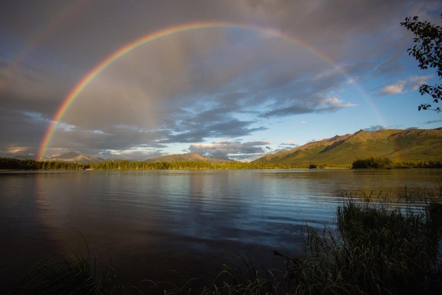 Rainbow in Alaska