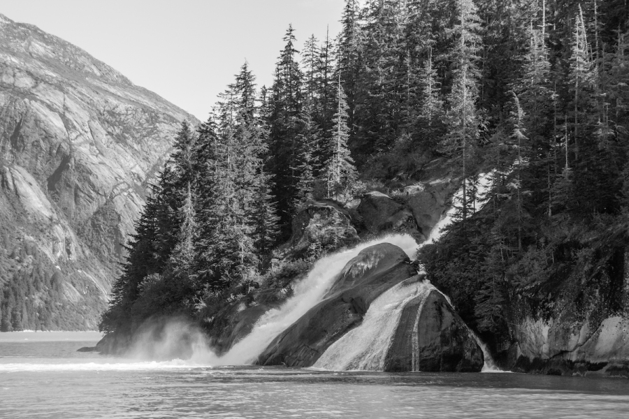 Waterfall in Tracy Arm