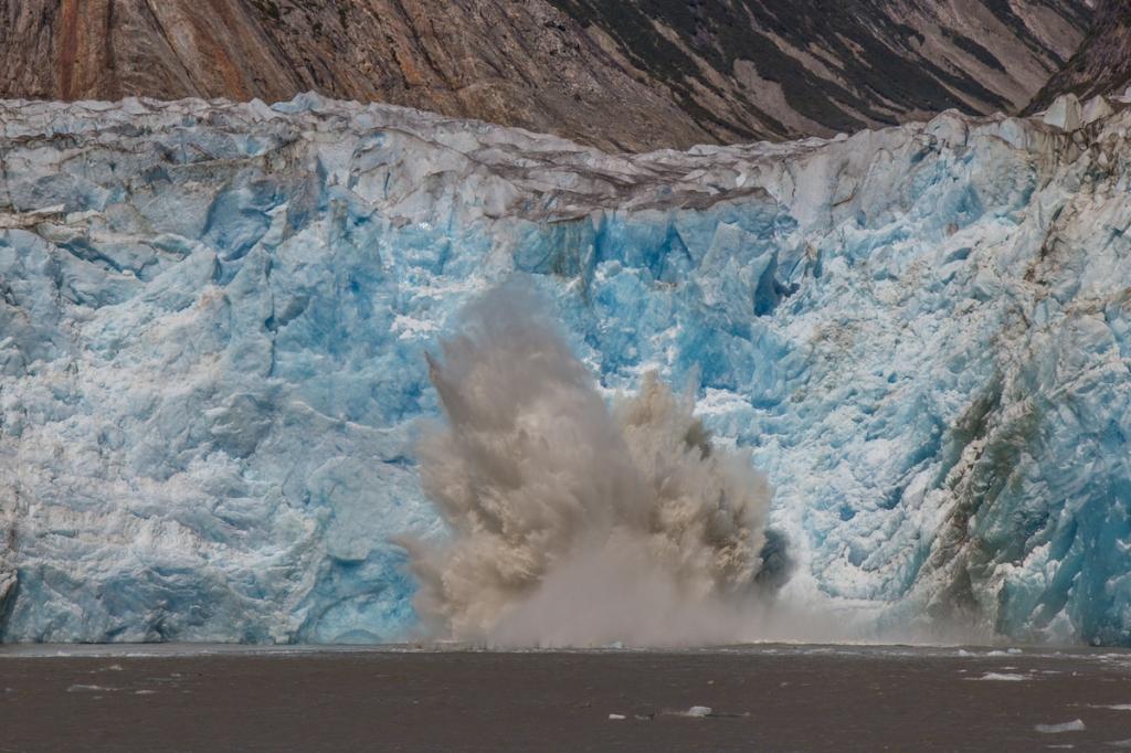 Sawyer Glacier calving