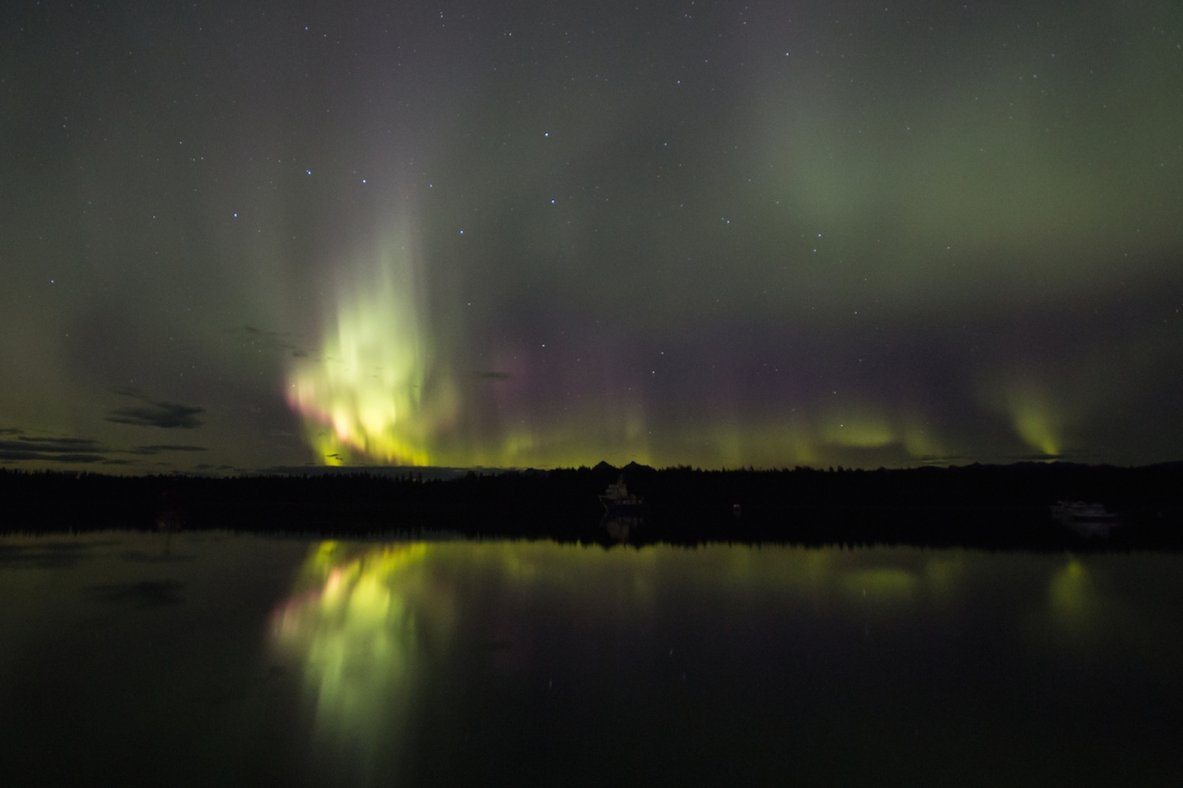 Northern Lights and big dipper