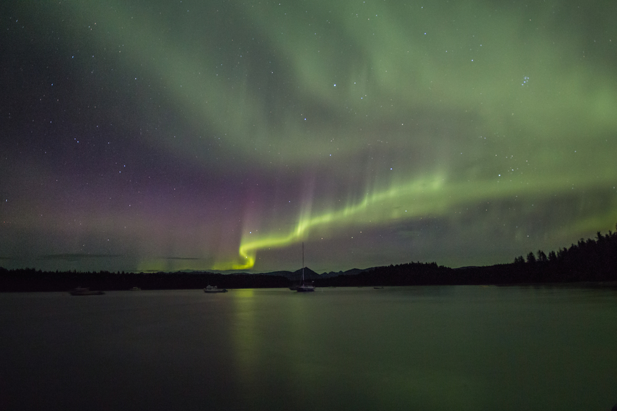 Northern Lights over Glacier Bay