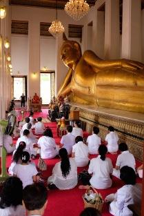 Reclining Buddha in Thonburi, Bangkok.