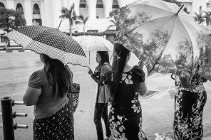 black and white yangon women