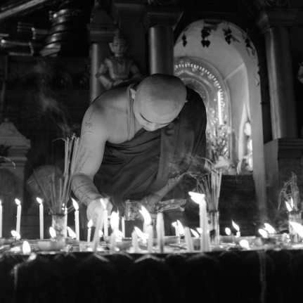 Shwedagon black white