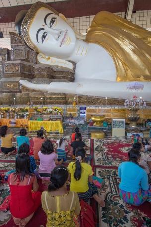 Reclining Buddha in Bago, Myanmar