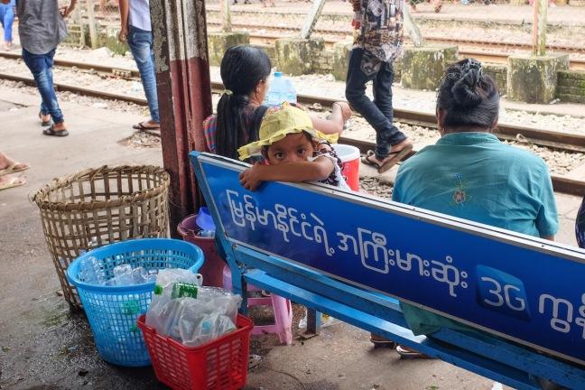 Myanmar train station