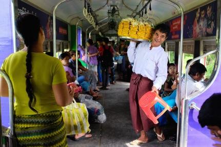 Yangon circle train food