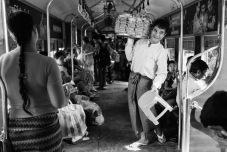 Black white Yangon train