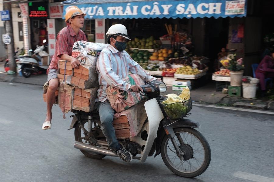 Hanoi bikes and bricks
