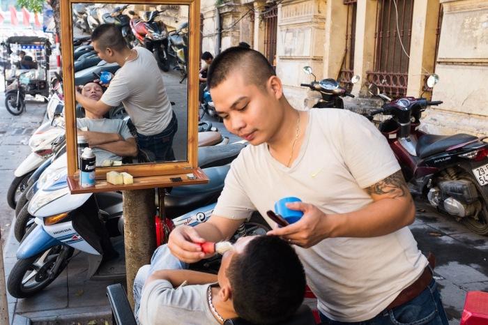 street barber