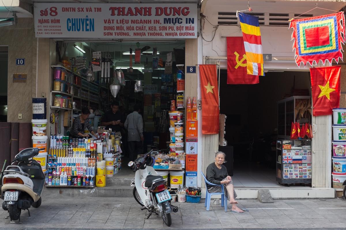 Hanoi communist flag