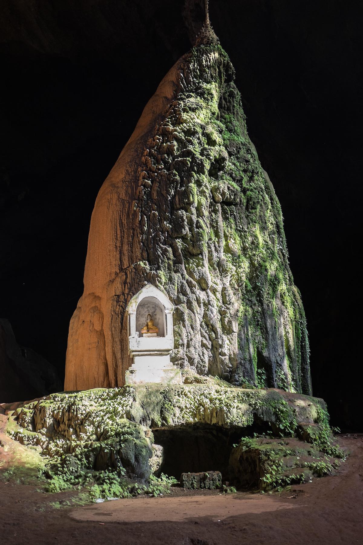 Stalagmite in Saddar Cave.