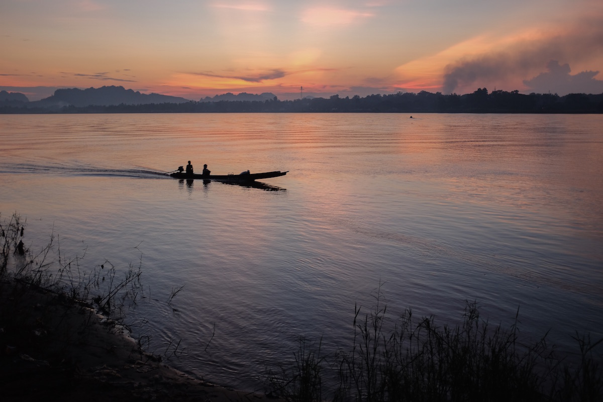 Thanlyin River sunset