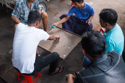 Men playing game yangon