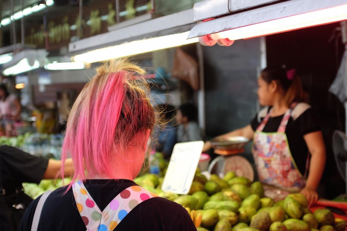 Bangkok pink hair