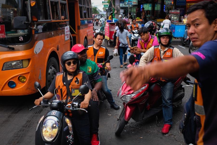 Bangkok motorcycle taxi