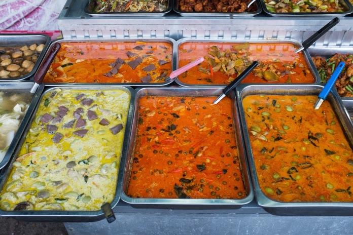 Bangkok curry street food