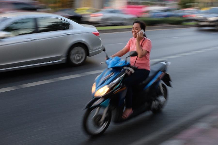 Bangkok motorbike accident