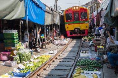 Train Market Thailand
