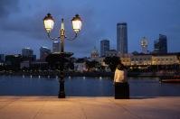 Singapore at night street photo