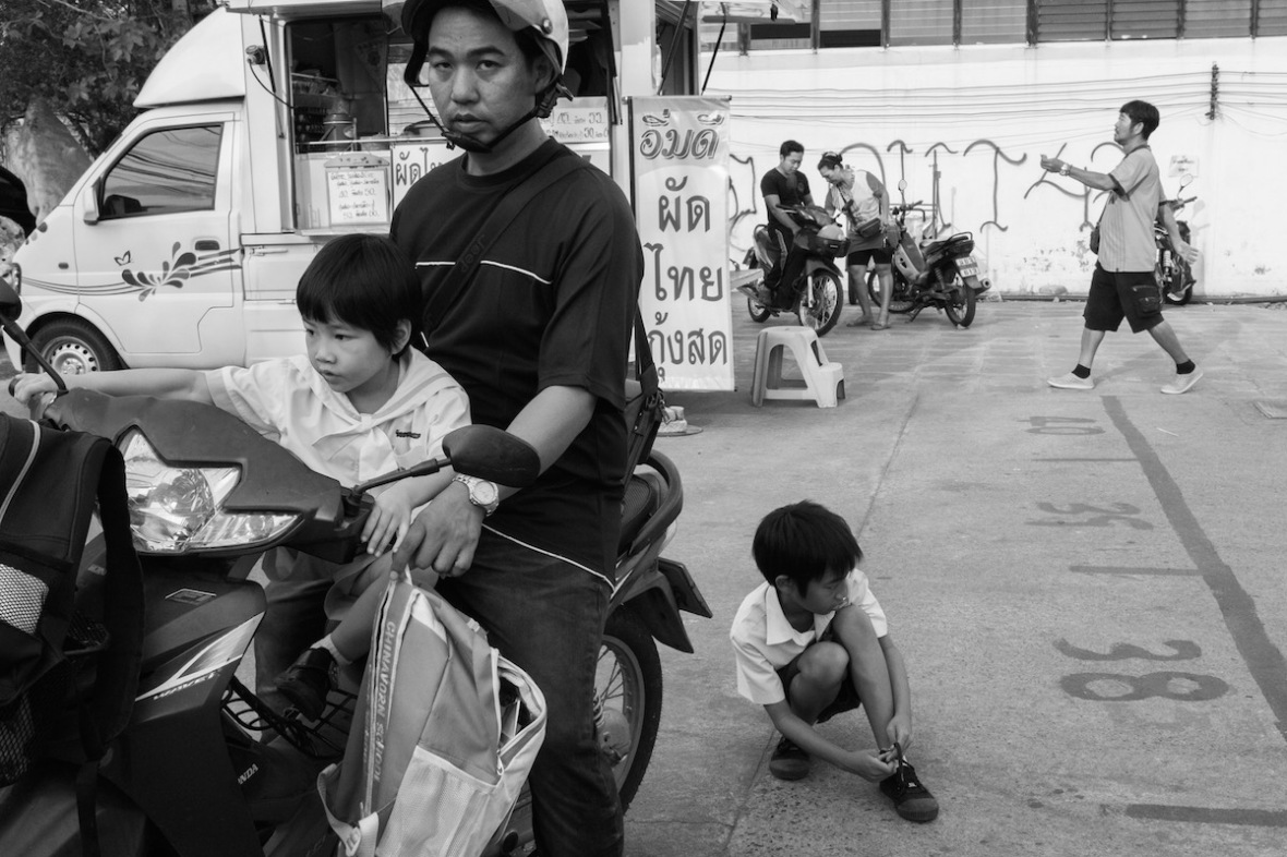 Market in Black and white