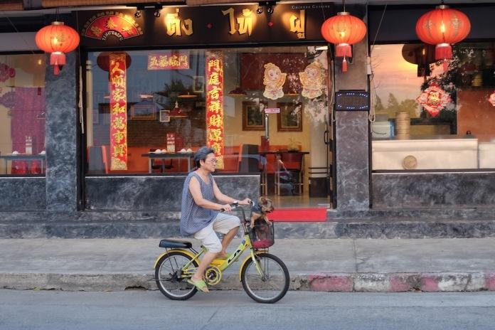 Bangkok Street Photography Lady on Bike