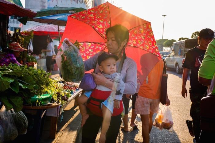 Bangkok baby at market Street photo